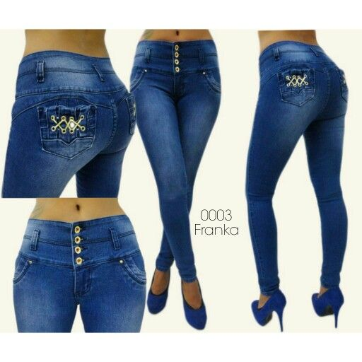 GALES  Original Colombian Jeans Skinny Ripped New Denim Fashion Casual Push Up