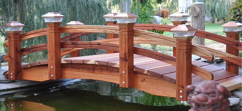 Redwood Garden Bridges Custom Built For Your Landscaping 400 x 300