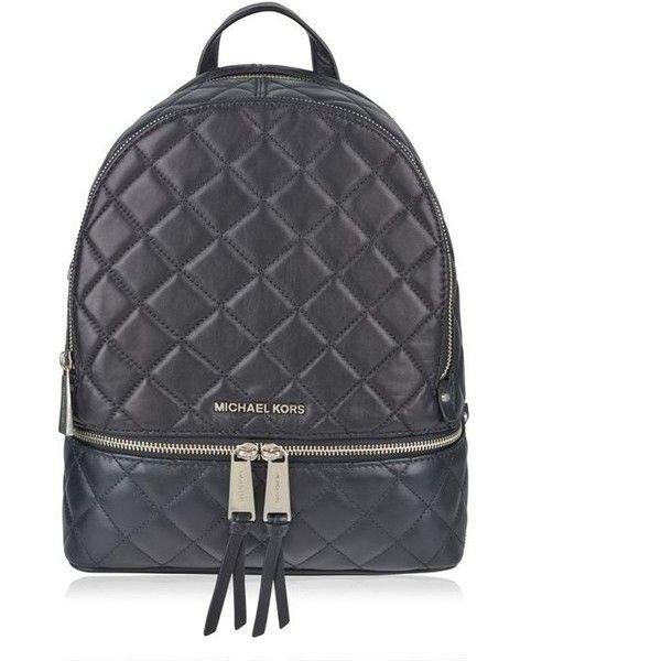 Michael Michael Kors Rhea Quilted Backpack (13.245 UYU) ❤ liked ... : black quilted rucksack - Adamdwight.com