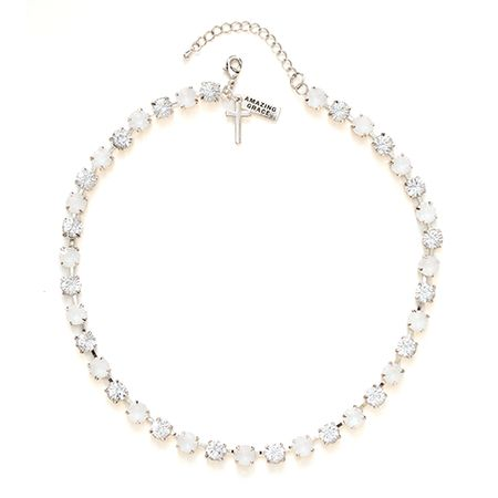 "Rhinestone Choker-Amazing Grace-17"" w/2"" Extender (Crystal Collection) on SonGear.com - Christian Shirts, Jewelry"