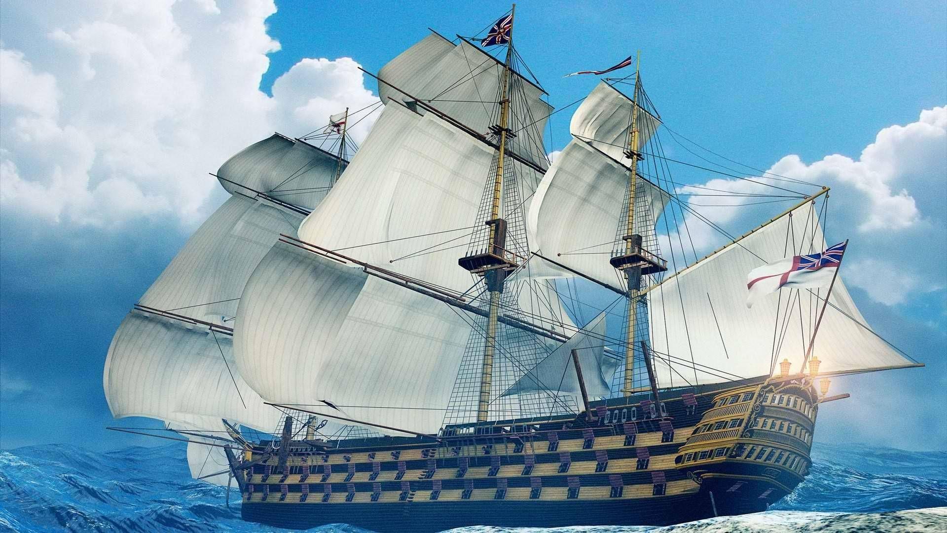 Art HD Ship Wallpaper 1920×1080 Beautiful Ship Image http