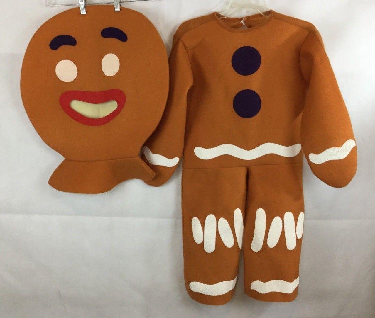 26.99 Shrek Gingerbread Man Costume Small Boys Girls 2