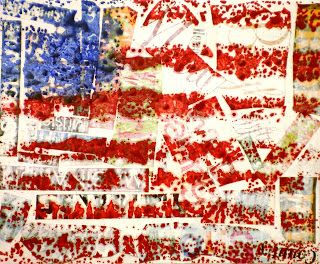 "Spot of Color: 4th Grade Jasper Johns ""Encaustic"" Flags  With easy directions. Must try!!!"