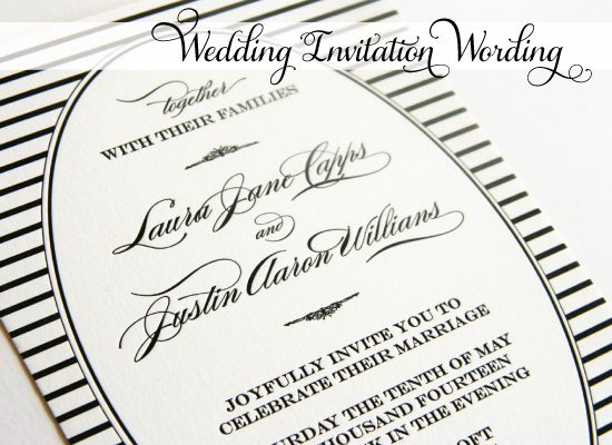 Examples Of Wedding Invitation Wording Hosted By Bride And Groom: Invitation Wording, Wedding