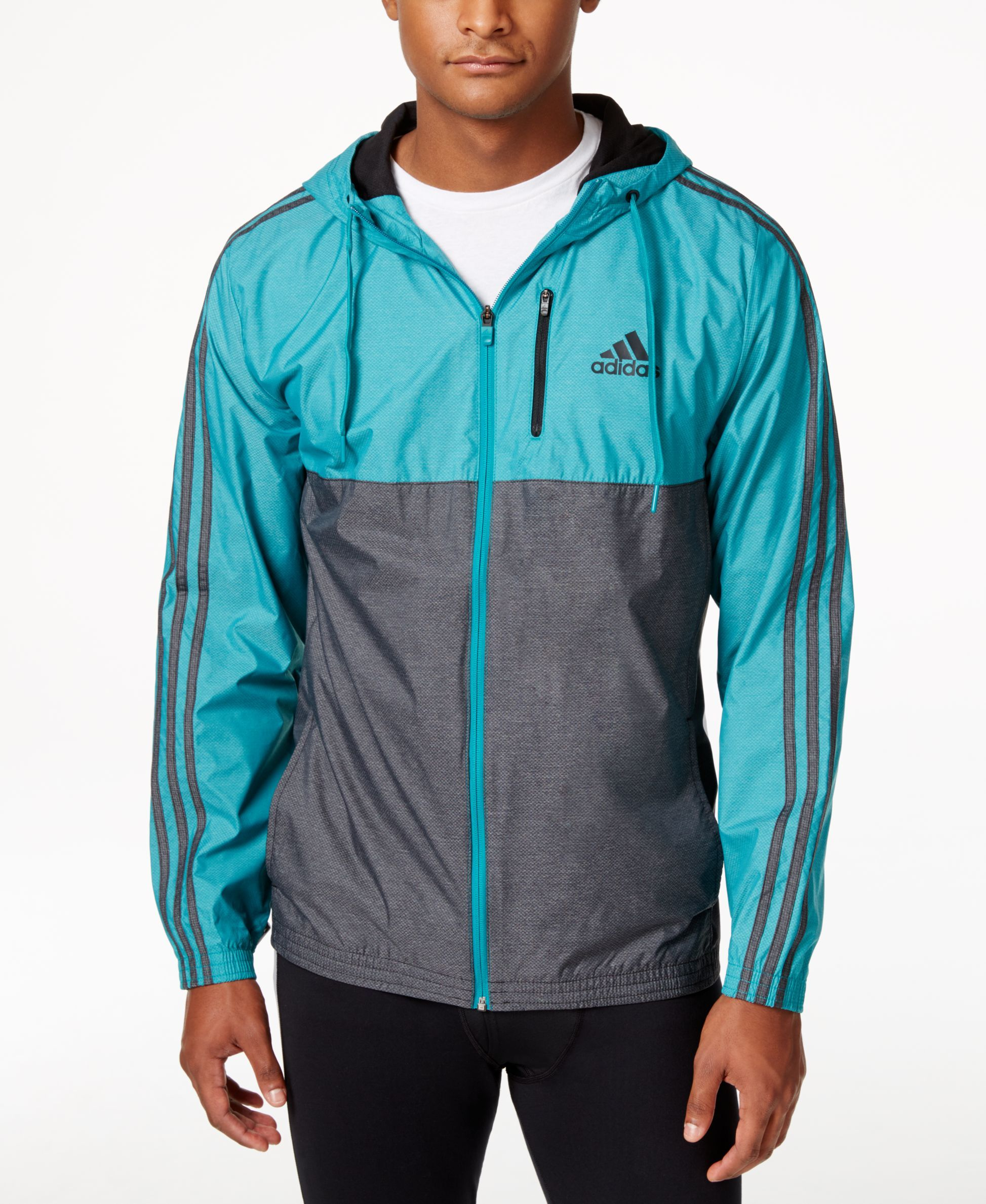 e9a9949db0cd adidas Men s Full-Zip Essential Woven Jacket