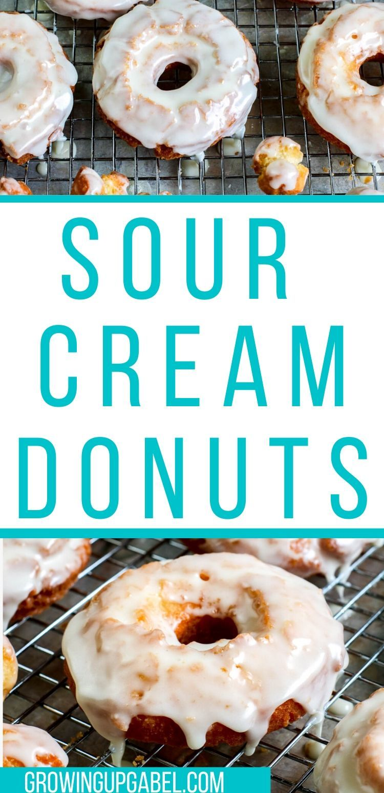 Homemade Sour Cream Donuts In 2020 Homemade Sour Cream Make Sour Cream Sour Cream Donut