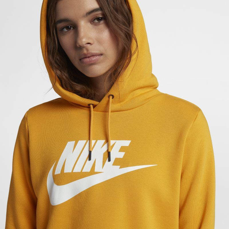 Nike Sportswear Rally Women's Cropped Hoodie Yellow | Nike