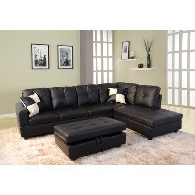 Andover Mills Russ 103 5 Sectional With Ottoman Wayfair In 2020 Sectional Sofa Cheap Living Room Sets Leather Sectional Sofas