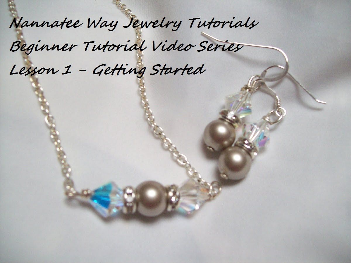 Beginner Jewelry Making Tutorial - Lesson 1   ΧΕΙΡΟΠΟΙΗΤΑ ΚΟΣΜΗΜΑΤΑ ...