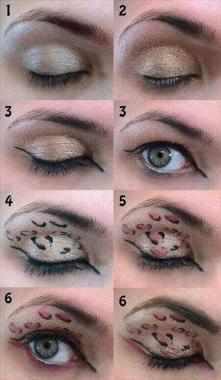 Cheetah Print Tutorial Fantasy Mkae Up Pinterest Cheetah