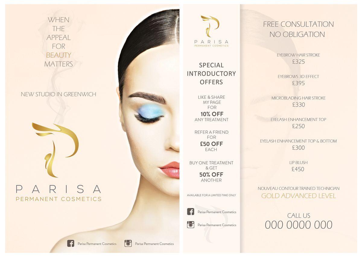 Flyer Design By Leonfx For Semi Permanent Make Up Flyer Design In 2020 Make Up Shop Flugblatt Design Make Up