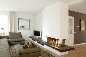 open haard idee, is precies indeling van onze woonkamer | open, Deco ideeën
