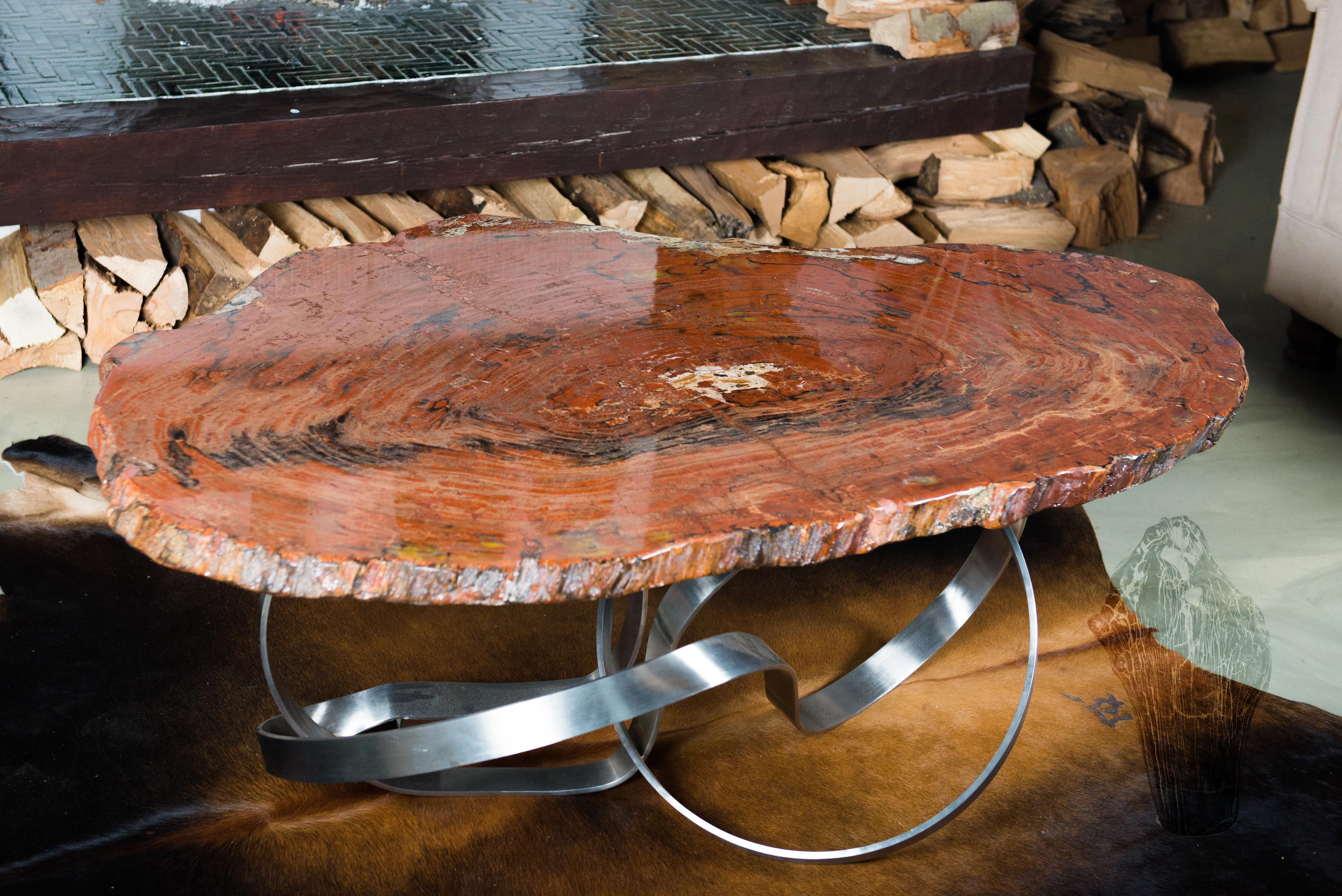 Unique Coffee Table Made Of Petrified Wood From Arizona Usa 200 Million Years Old Material Coffee Table Wood Unique Coffee Table Coffee Table