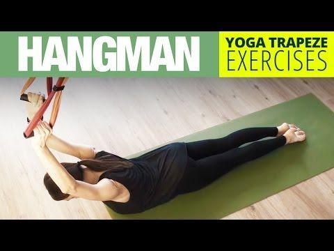 yoga trapeze exercise  hangman  shoulder opening  yoga