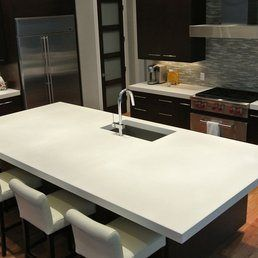 Pin By Lorian M On Chula Vista Tile And Stone Concrete Countertops Kitchen White Concrete Countertops Concrete Kitchen Island