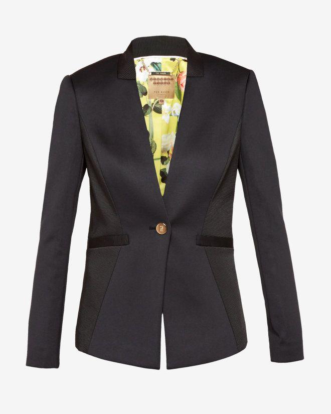 c5df7ab02e8a04 Neoprene ottoman jacket - Black