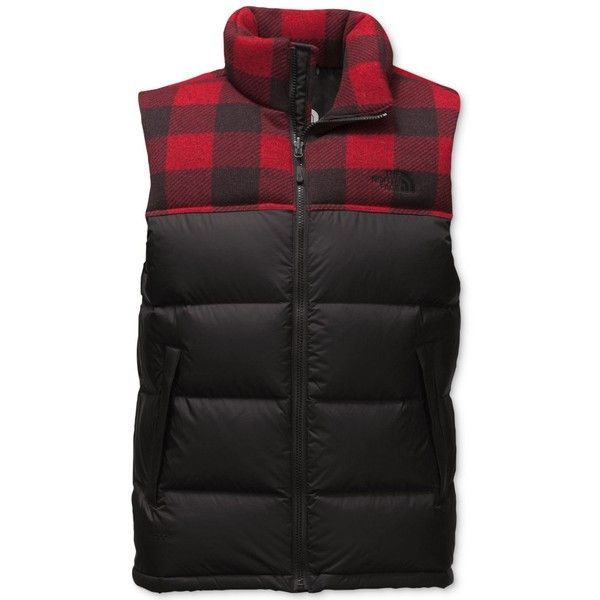 de2a3a9cda The North Face Nuptse 2 Quilted Down Vest ( 149) ❤ liked on Polyvore  featuring men s fashion