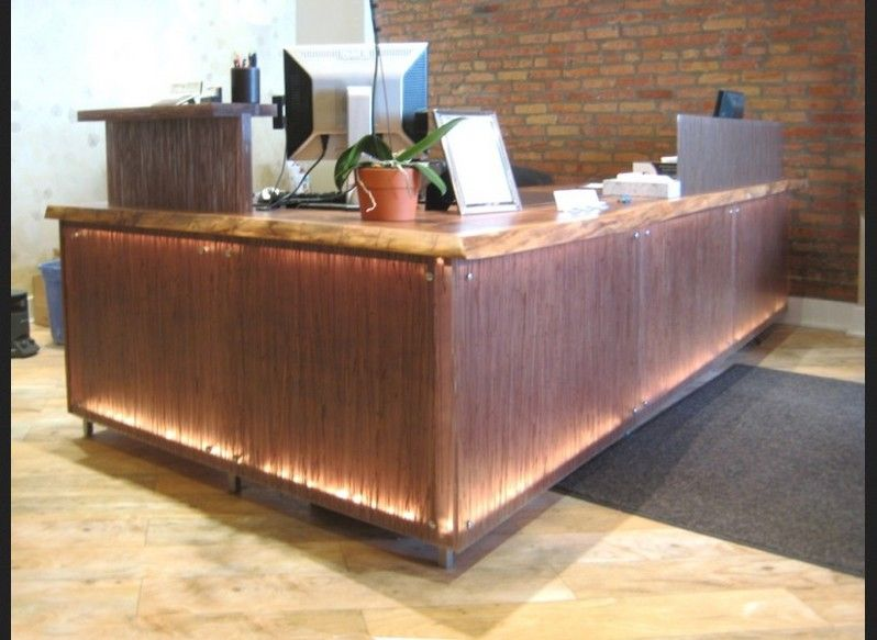 Charming Rustic Reception Desk Ideas For Small Office