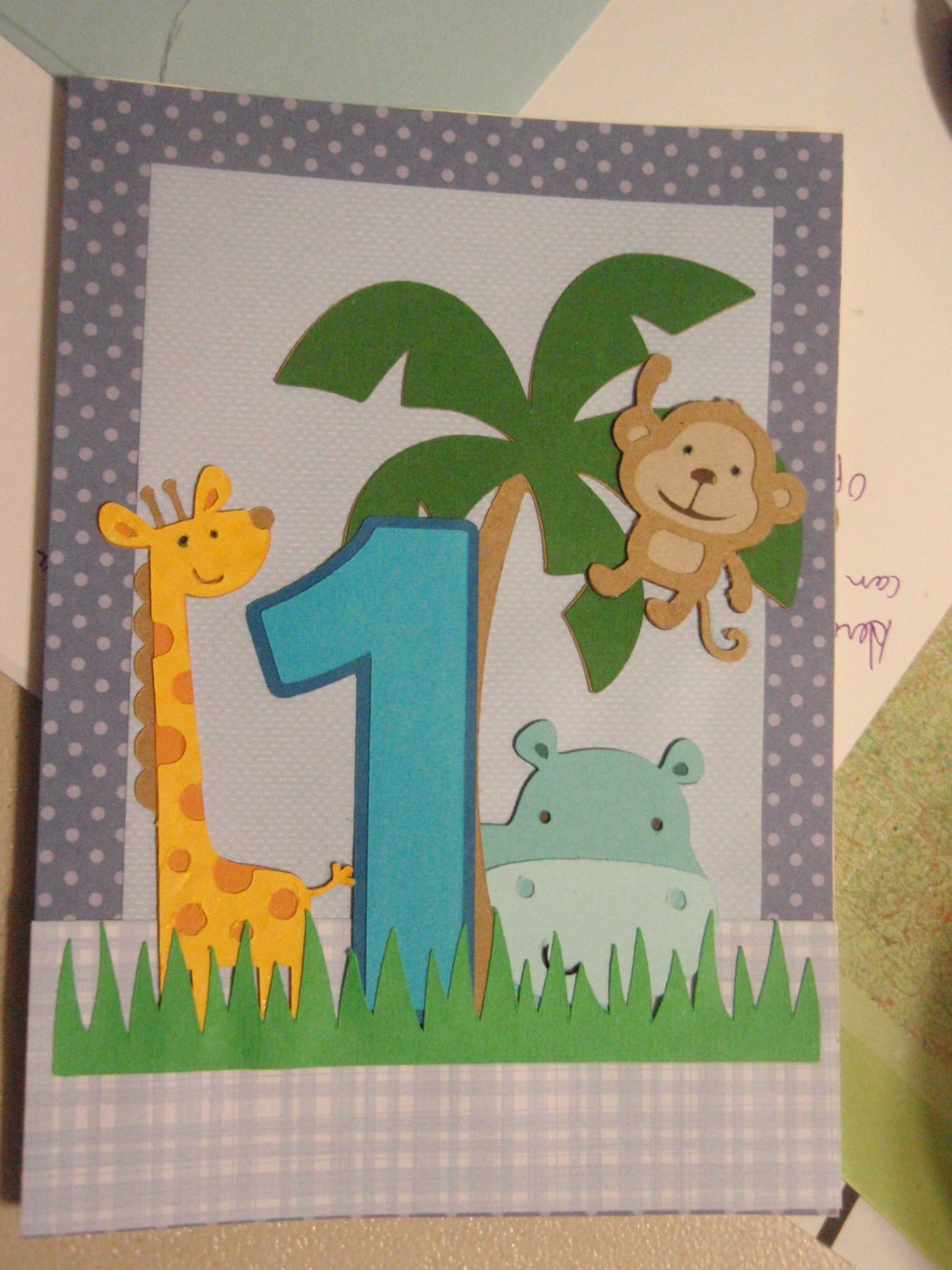Bday Card For 1 Year Old