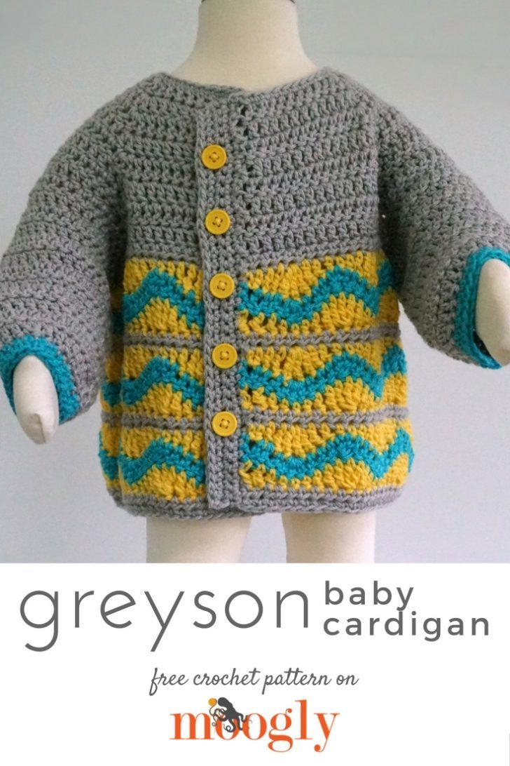 Greyson Baby Cardigan | Free crochet, Crochet and Patterns