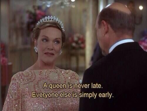 When I'm late for school,