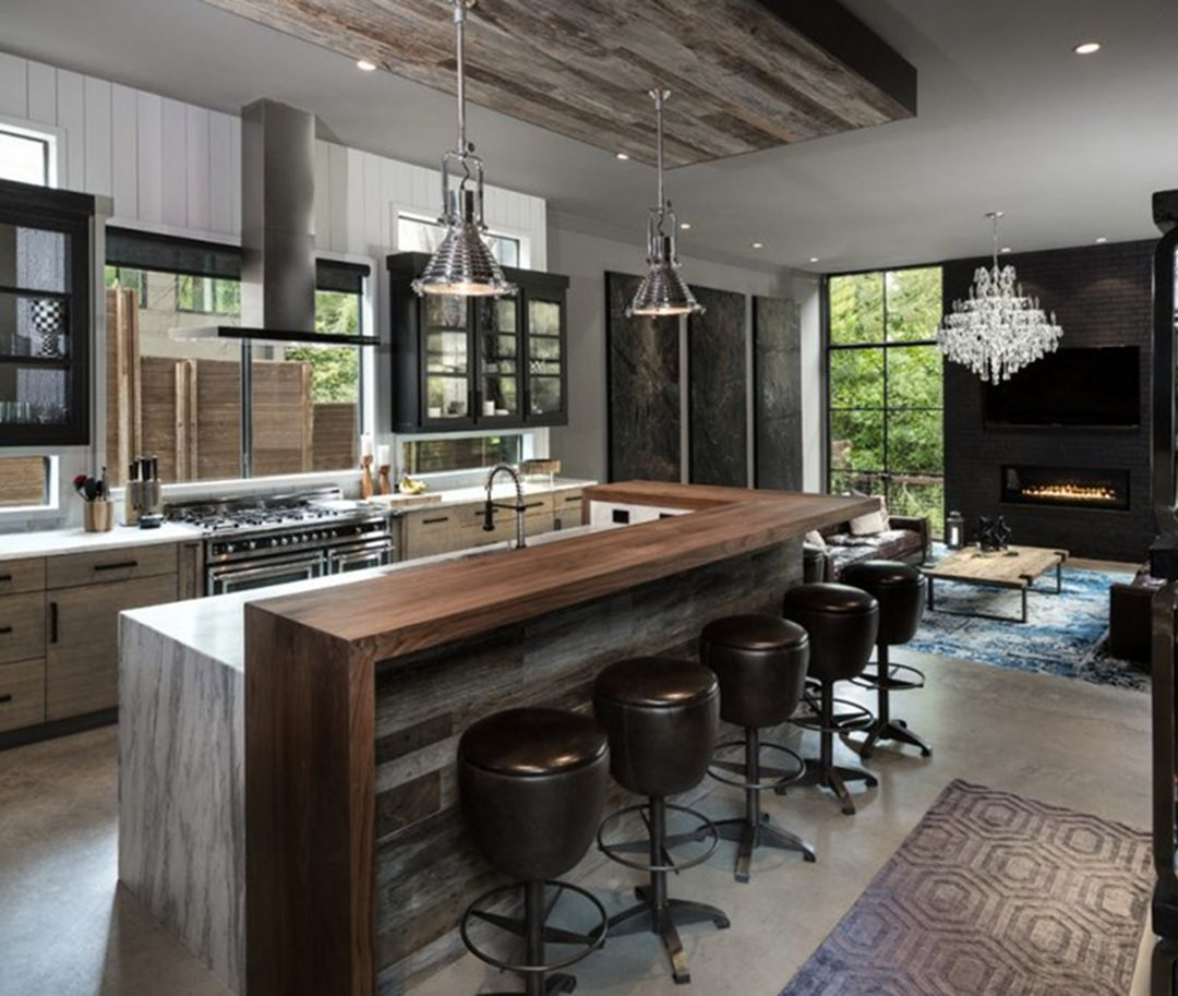 30 top and fabulous modern industrial kitchen design and on awesome modern kitchen design ideas id=75423