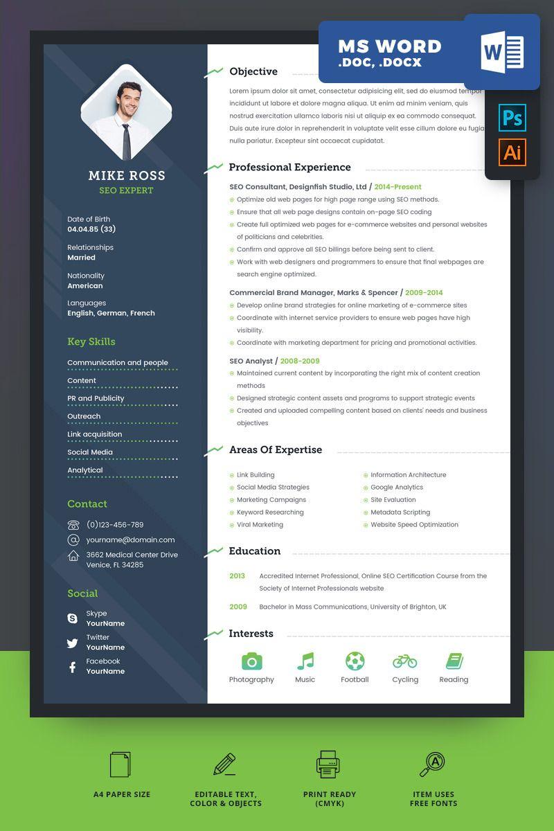 SEO Expert Resume Template 69503 Best resume template