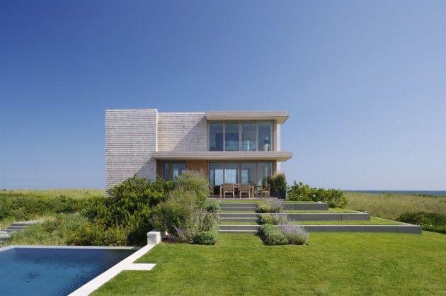 Stelle Architects have designed the Dune Road Residence in Bridgehampton, New York.