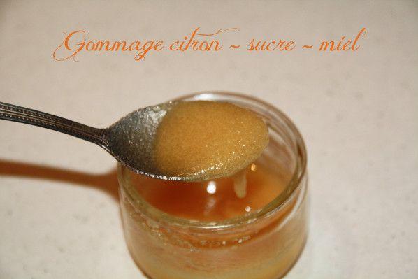 Soin du jour : Gommage citron - sucre - miel - le Jardin