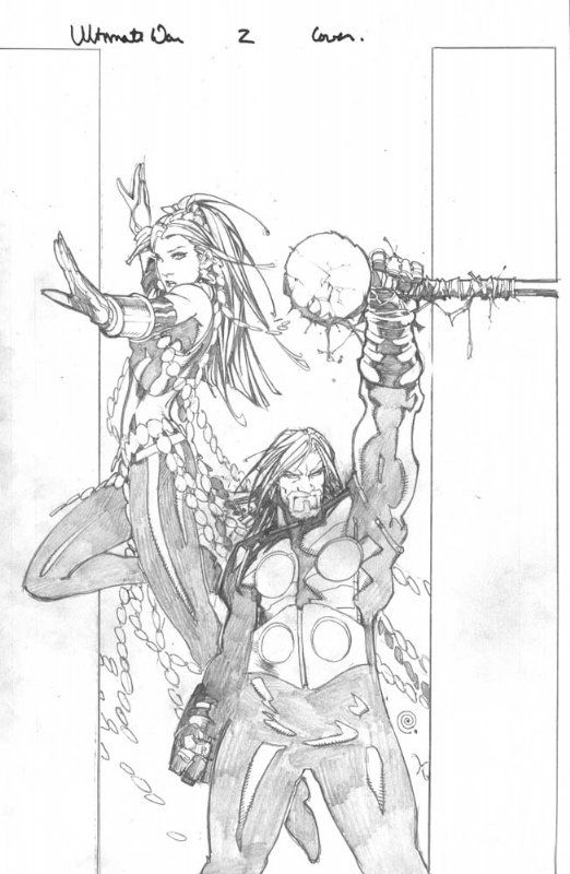 Bachalo/Townsend ULTIMATE WAR 2 cover Comic Art