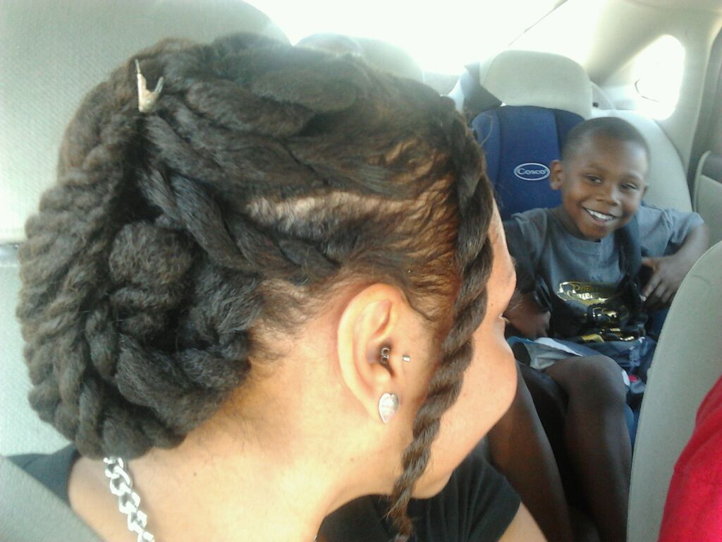 Just a two strand twist with a leave in conditionermy quick lil