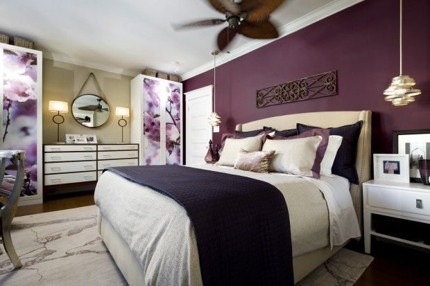 Plum And Cream Bedroom Google Search