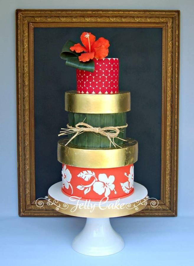 Caribbean Wedding Cake - Cake by JellyCake - Trudy Mitchell