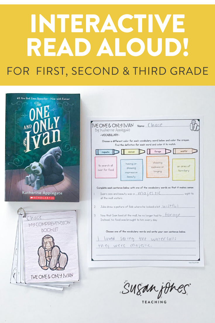 The One And Only Ivan Interactive Read Aloud One And Only Ivan Interactive Read Aloud Cvce Words [ 1102 x 735 Pixel ]