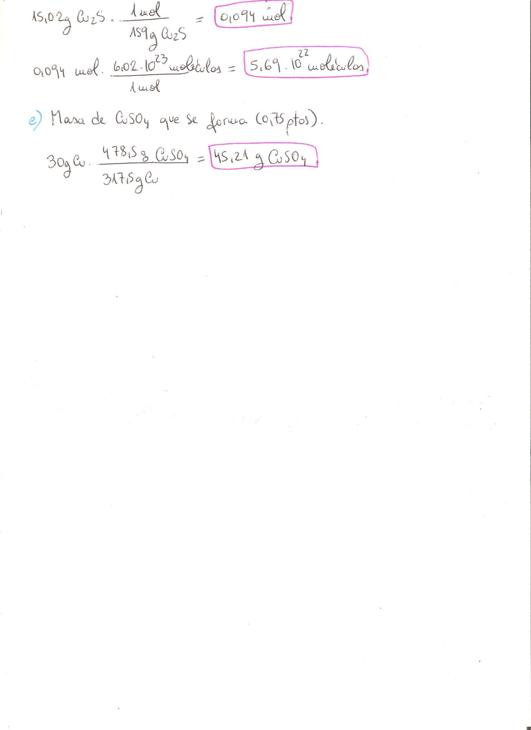 Ejercicio Resuelto De Reacciones Químicas Estequiometría Nivel Tercero Cuarto Eso Cálculos Con Factores D Reacciones Quimicas Ejercicios Resueltos Química