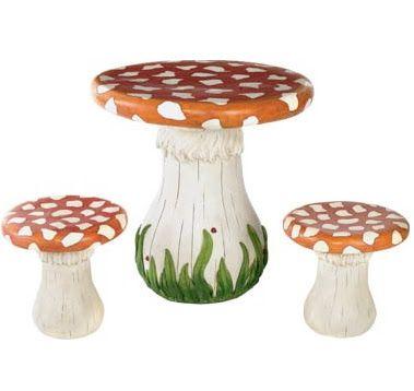 Mushroom table and stools | Little Maggie | Pinterest | Stools and ...