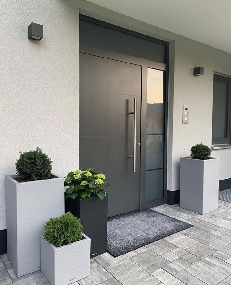 Eingangsbereich Hauseingang Gestalten Moderne Eingangstur Haus