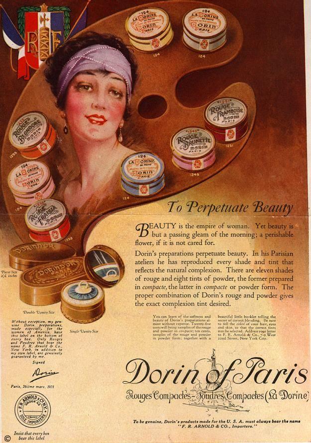 1922 Dorin Of Paris Cosmetics Vintage Advert Matter Vintage - 1920s-makeup-ads