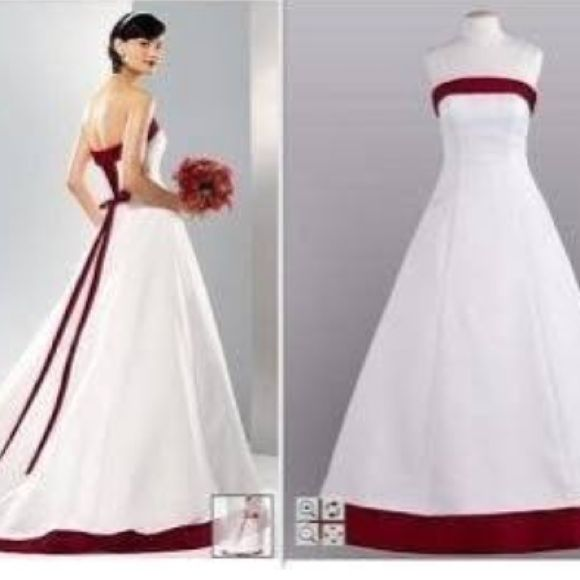 David S Bridal Apple Red Wedding Dress Davids Bridal Wedding