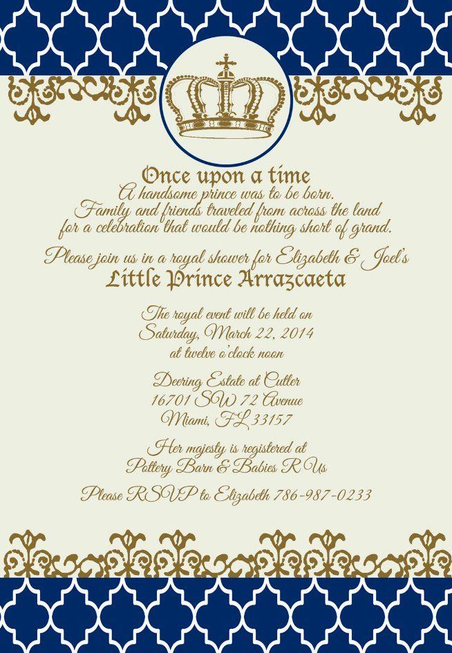 Little Prince Baby Shower Invitations | Festa Principe | Pinterest ...