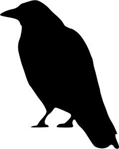 crow standing by peileppe animal animal bird bird black black rh pinterest com free gothic clipart gothic cross clipart