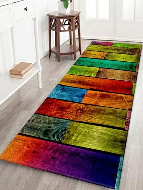 Colorful Color Spliced Wood Grain Rug Muebles Para Casa Decoraciones De Casa Decoracion De Unas
