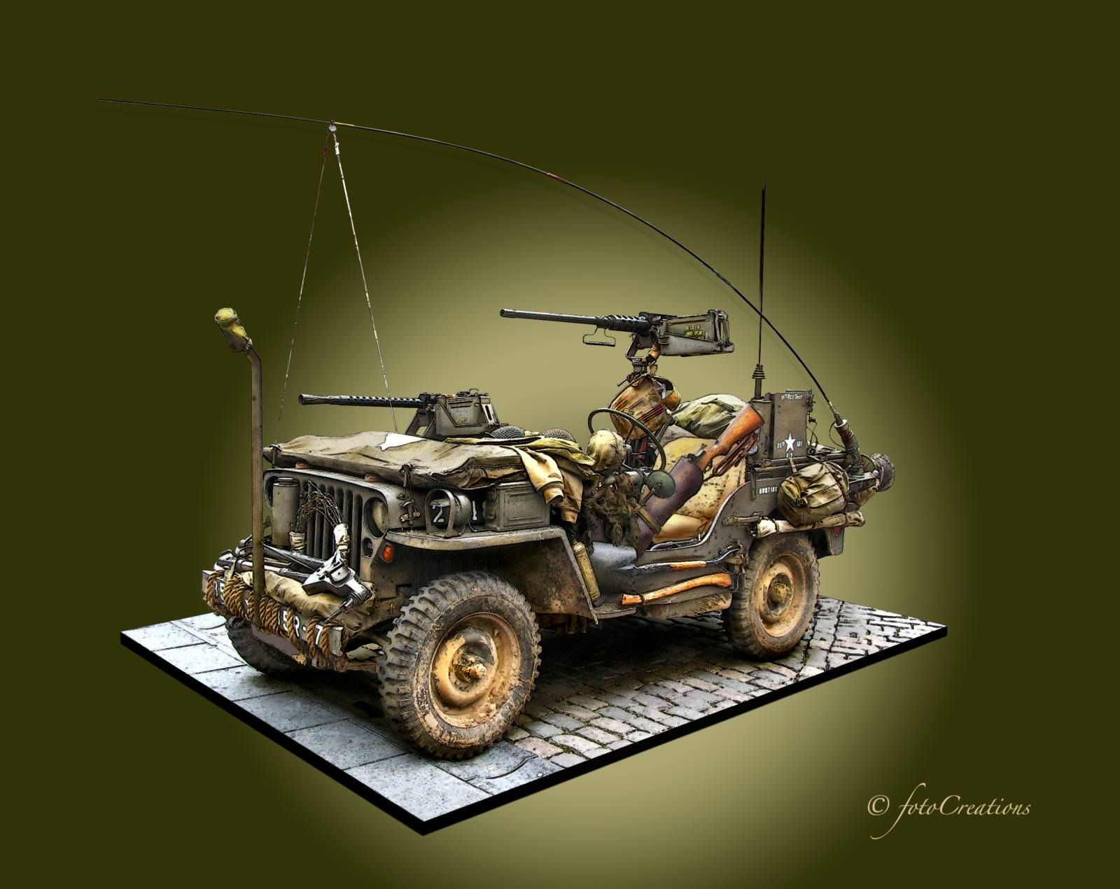 Us Army Jeep Wwii Vehicles Military Diorama Model Tanks