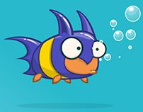Cartoon fish in batman costume