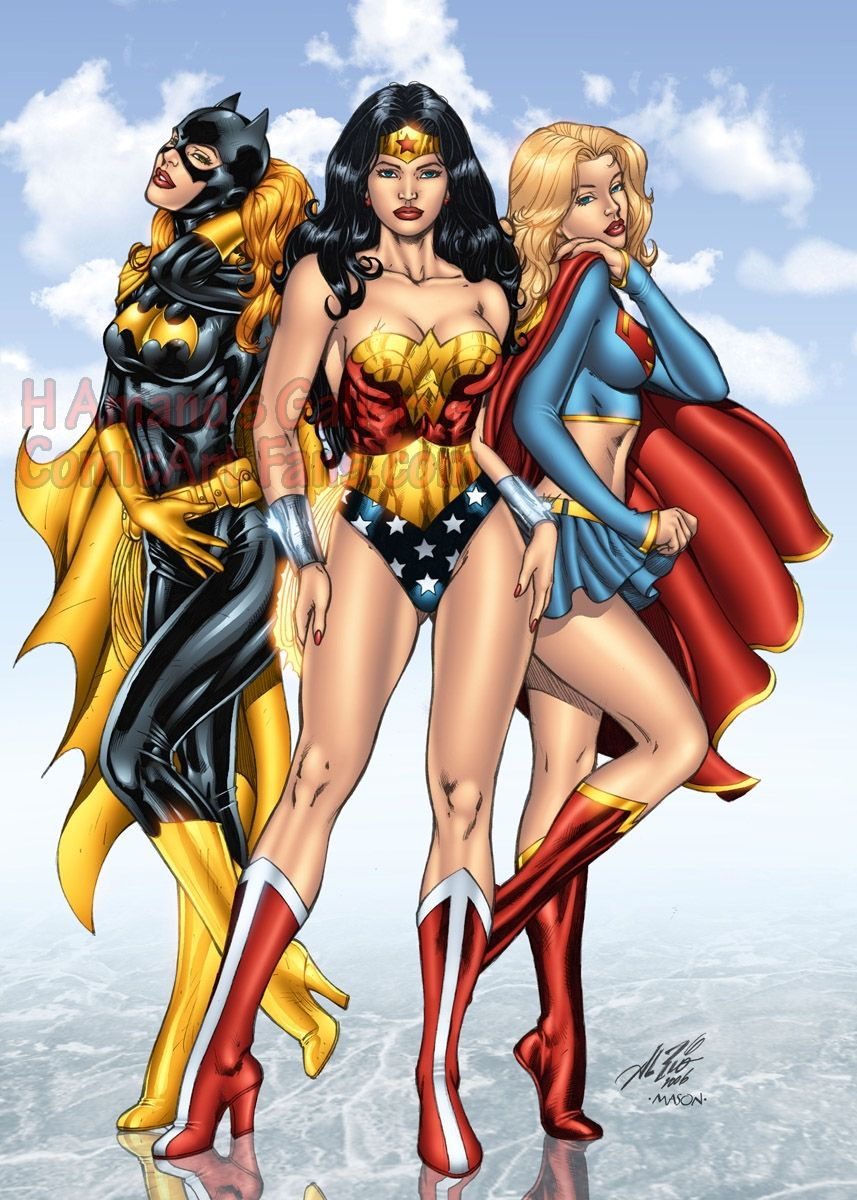 batgirl and Wonder supergirl woman