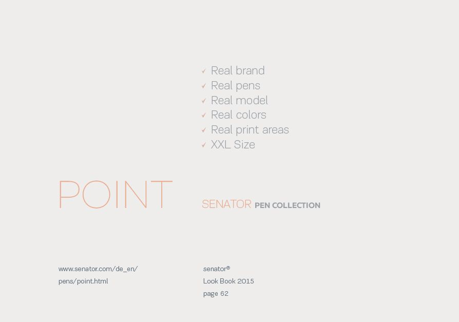 For designers. Senator pen mockup. Point