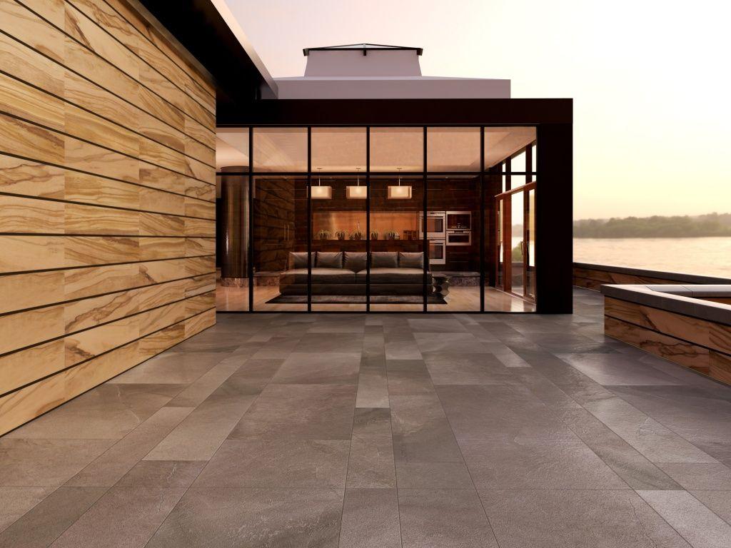 Imagen de pisos y azulejos de exteriores for my home pinterest piso para cochera cochera - Azulejos para terraza ...