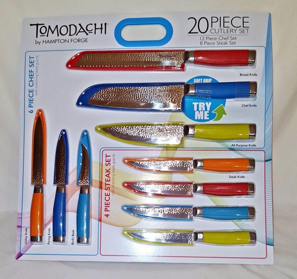 tomodachi by hampton forge 20 pc knife set chef bread steak
