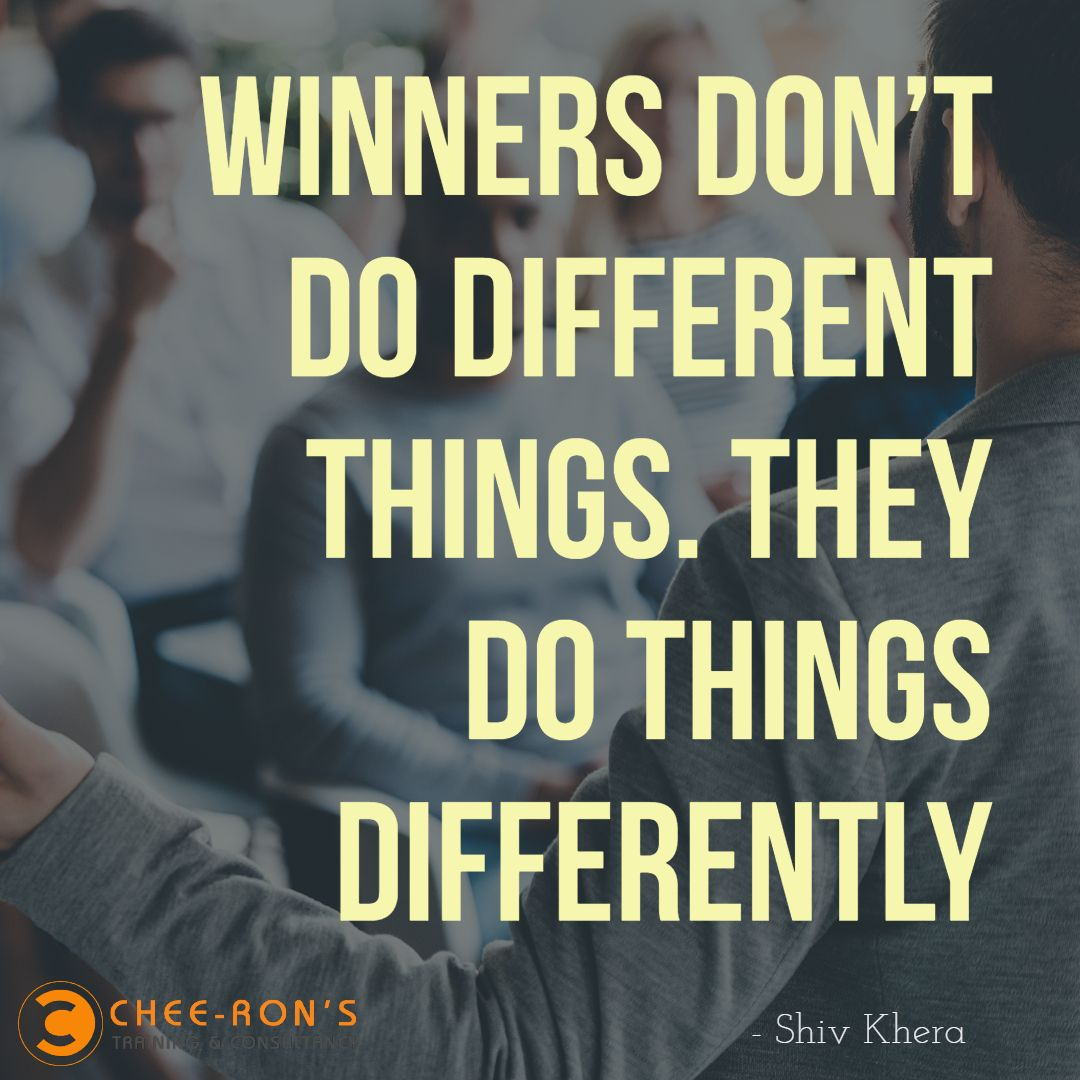 Winners don't do different things, they do things differently..  www.cheerons.in   Marketing courses, Web marketing, Digital marketing