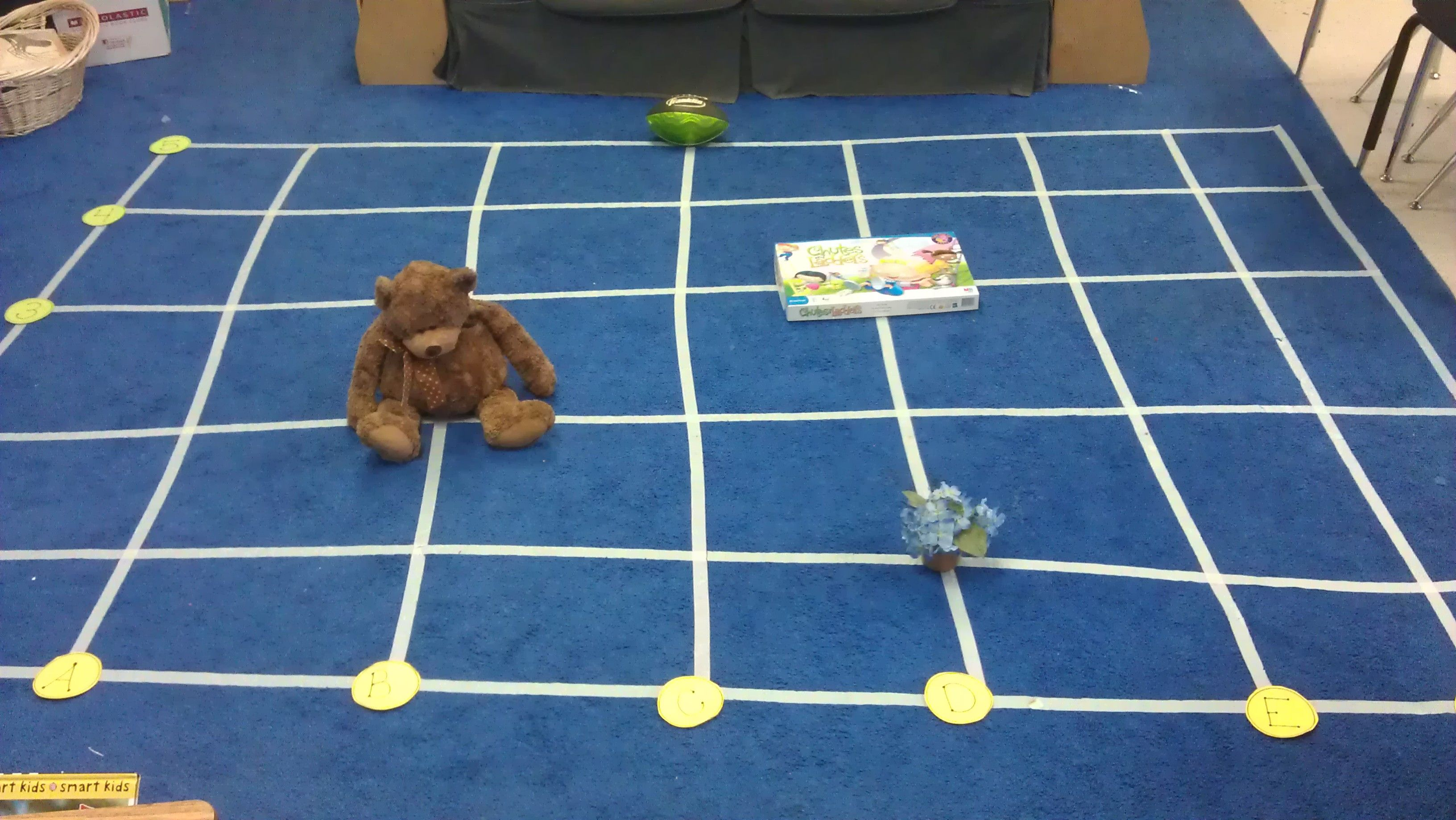 Coordinate Grids Masking Tape The Carpet Into A Grid
